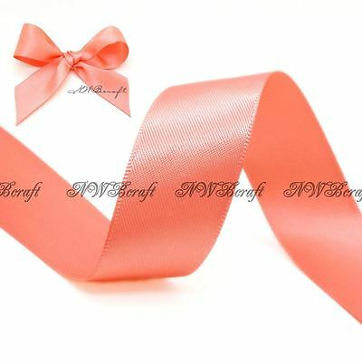Light Coral Double Sided Satin Ribbon 3mm 6mm 10mm 16mm 22mm 28mm 50mm