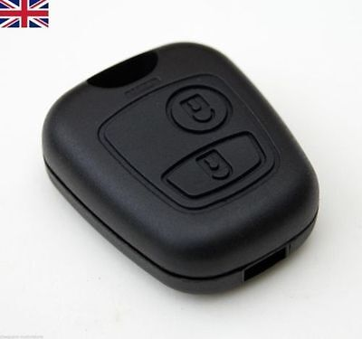 New UK Seller 2 Button Remote Key Fob Case Shell Cover Repair for Peugeot 206