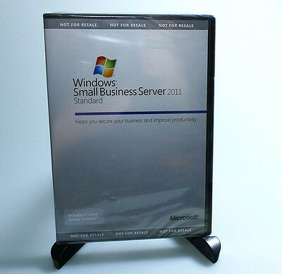 NEW Microsoft Windows Small Business Server 2011 Standard w/5 CAL Licenses