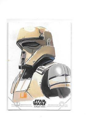 2016 Star Wars Rogue One Series 1 Shoretrooper Sketch by Kevin Graham 1/1