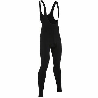 Wiggle Essentials Cycle Thermal Padded Bib Tights SIZE MEDIUM Black