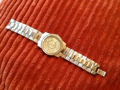 mother of pearl crystal watch
