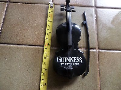 musical violin/fiddle guinness  commenorate st patricks 2002 with bow