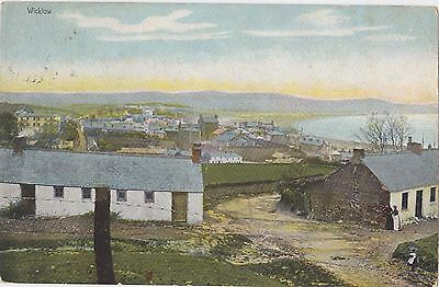 A View of Wicklow Ireland Hely's Colour 1905 Posted in Dublin Postcard