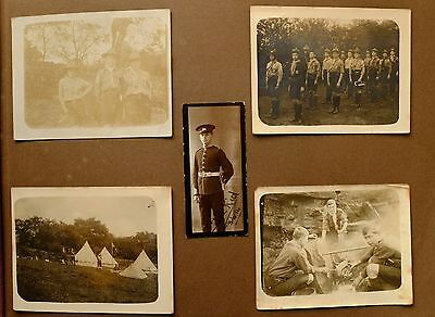 WW1 WWI PHOTO ALBUM PAGE BOY SCOUTS and later as SOLDIER WEST YORKSHIRE REGIMENT