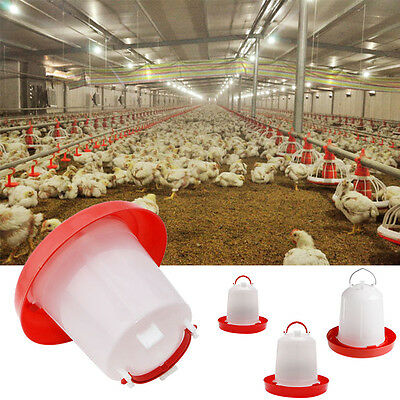 Poultry Chicken Feeder Chick Hen Quail Automatic Waterer Drinker 1.5L/2.5L/4L
