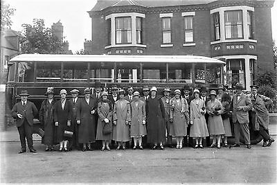 PHOTOGRAPHIC GLASS NEGATIVE CO-OP SOCIETY EMPLOYEES OUTING NOTTINGHAM  c1928