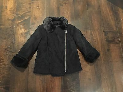 GapKids:  Girls Sz 5, Black Faux Fur Moto Inspired Jacket