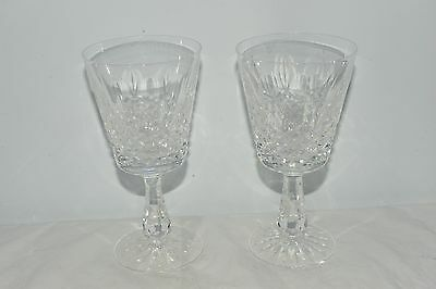 2x Waterford Crystal Wine Glasses Cut Glass Pattern Claret