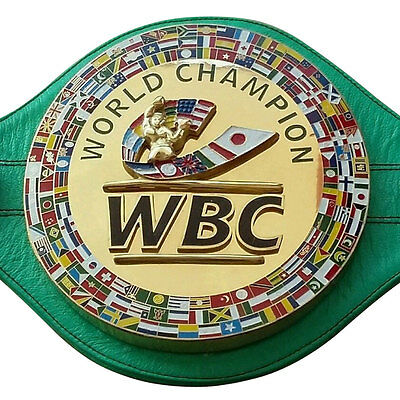 Brand New WBC Championship Boxing Belt 3D Real Leather Replica Adult size