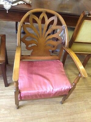 Small Ornate Edwardian Chair With Cushion (Re-Upholstering Service Available)