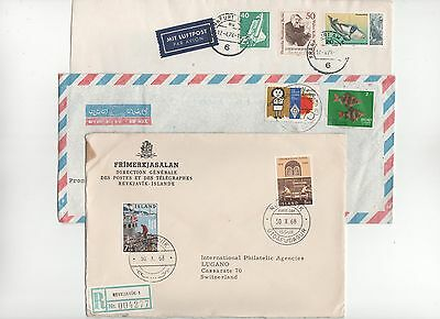 Island Iceland fisching FDC Sri Lanka  3 Cover Beleg Corall Fish  poisson Fisch