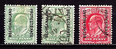 British Bechuanaland Stamps. KEVII 1904 ½d & 1d. Used & MH. #3063