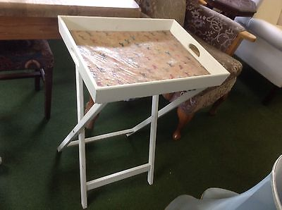 Tray On Stand Shabby Chic Horse Print