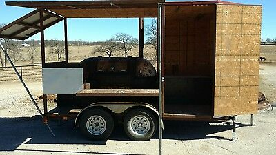 Custom bbq smoker trailer