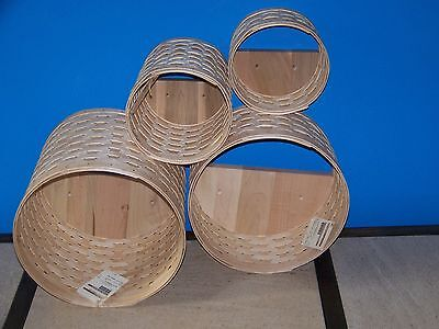 NEW Longaberger 2016 WOVEN Collection ROUND WALL CUBBY Basket Set OF 4 - IN HAND
