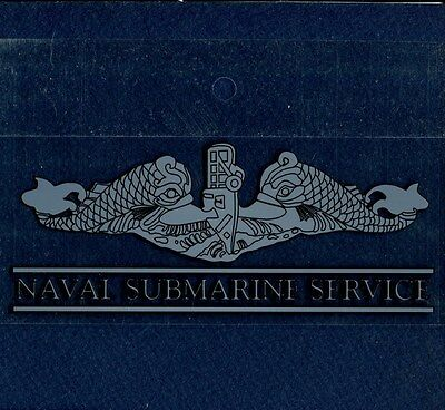 Decal SUBMARINE WARFARE DOLPHINS US Navy Enlisted Uniform Breast Insignia