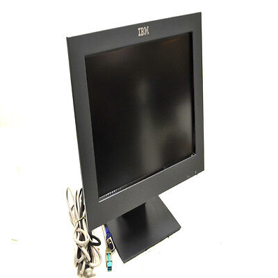 "IBM 4820-5GB SurePoint 15"" Flat Panel Touch Screen POS Monitor w/ Stand & Cables"