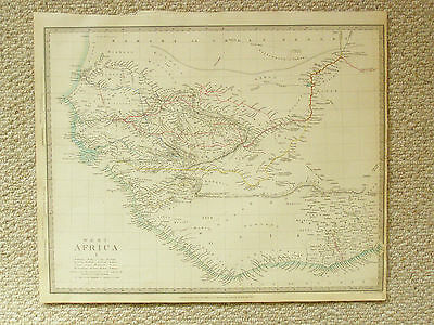An original and authentic pair of S.D.U.K. maps of Western Africa.