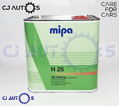 MIPA 2K ACRYLIC H25 NORMAL STANDARD MEDIUM ACTIVATOR HARDENER CATALYST 2.5 Litre
