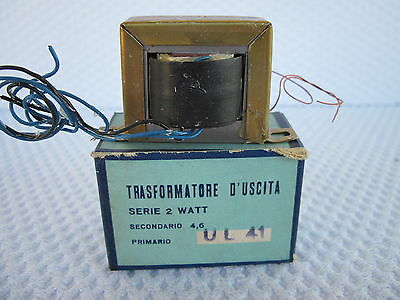 Trasformatore D'uscita 3000 Ohm Ul41 2W Single Ended Nos