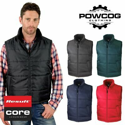 BC2051 Result Mens Core Nova Lux Padded Fleece Lined Bodywarmer Jacket