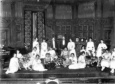 PHOTOGRAPHIC GLASS NEGATIVE THEATRE ROYAL STAGE SCENE NOTTINGHAM 1920's HISTORY