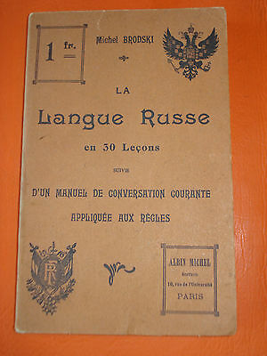 c1920 antique book The Russian language in 30 lessons in FRENCH