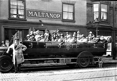 Photographic Glass Negative Pearsons Department Store Outing Nottingham 1928