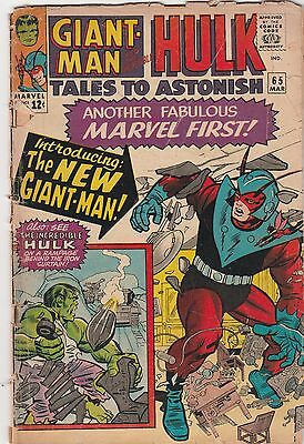 Tales to Astonish #65     Giant Man   Incredible Hulk  GD