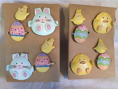 Metal Easter/Spring Bunny & Chick Napkin Rings - Set of 8 @Darling@