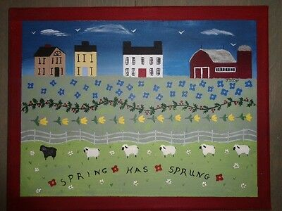 Primitive Folk Art Painting