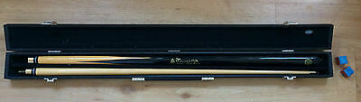 JIMMY WHITE 2 piece POOL MASTER / SNOOKER CUE & BCE CARRY HARD CASE