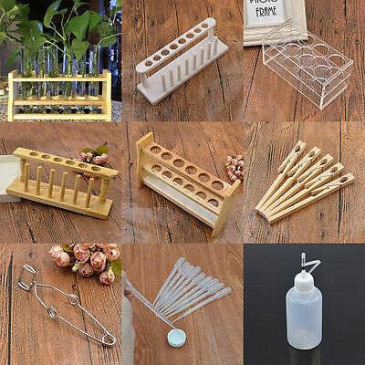 6 8 Hole Test Tube Rack Testing Tubes Holder Stand Clip Dropper Lab Supplies