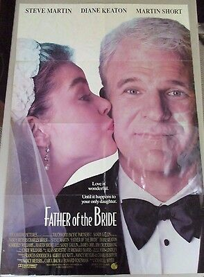 Vintage 1 sheet 27x41 Movie Poster Father of the Bride 1991 Steve Martin