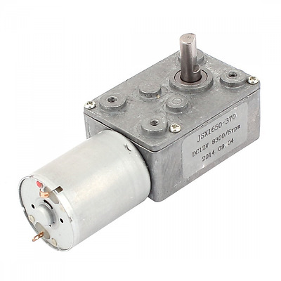 DC 12V 5RPM 6mm Shaft High Torque Worm Gear Box Reduction Motor