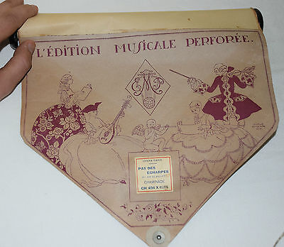 Antique Piano Roll Sheet OPERA PARIS L' EDITION MUSICALE PERFOREE GEORGE BARBIER