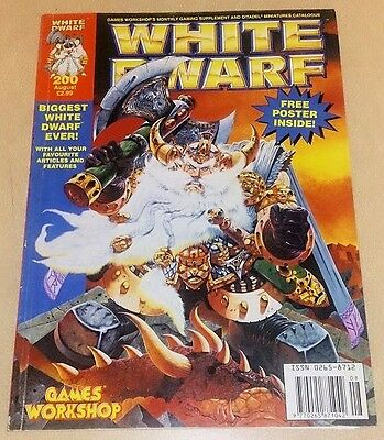 Games Workshop WHITE DWARF #200 w CARD INSERTS/POSTER oop ultra rare!