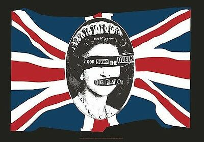 Sex Pistols god save the queen Textile Poster Flag