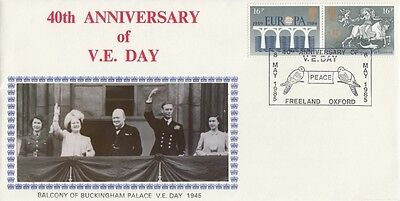 1985 40th Anniv of VE Day cover with SPMK.