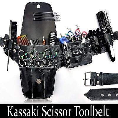 Hairdressing Scissor Pouch Tool Belt Shear Holster Bag Kassaki Cowhide Effect