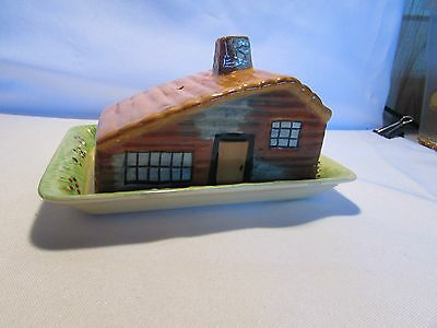 Vintage Cottage Ware Butter / Cheese Covered Dish From England Shorter And Sons