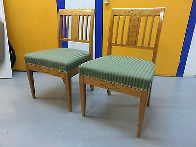Pair Beautiful Antique Classic Carved Wood Chairs