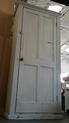 Large Antique Victorian Country Shabby Chic School Cupboard Larder Cupboard