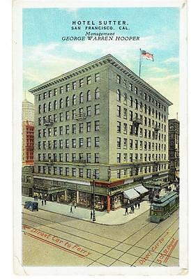 1910's PPC - View of The Hotel Sutter - San Francisco, California