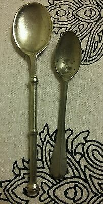 Antique spoons both signed SILVER?