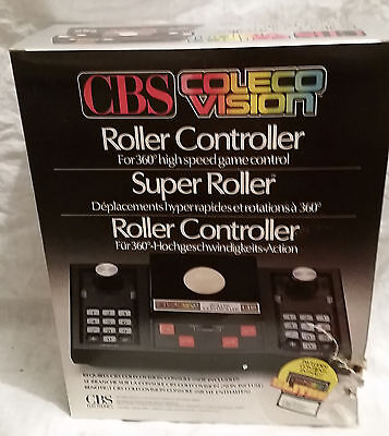 ROLLER controller joystick Track Ball Colecovision Coleco Cbs NEW + Slither