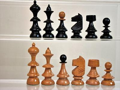 VINTAGE EARLY-MID 20th C  HUNGARIAN CHESS SET KING 90 mm NO BOX