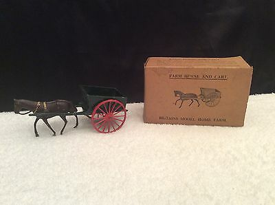 Vintage Britains FARM HORSE AND CART very early with original box and packaging
