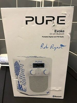 Pure Evoke D2 Rob Ryan Portable Digital And Fm Radio New And Boxed Blue
